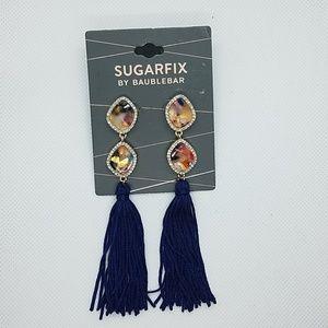 NWT Sugarfix by Baublebar Blue Tassel Earrings